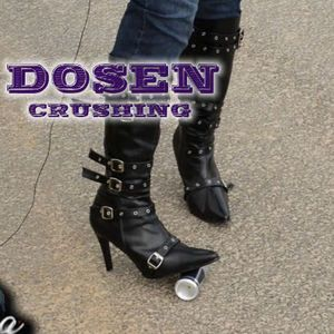 Mistress crushes can with heels